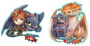 Chibi Httyd 2 by ibahibut