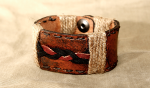 Leather bracelet by GodIsAlone