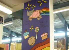 Nyan-Cat Column at Library by Icedevimon13