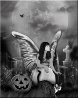 Fairy in Black and White by WDWParksGal