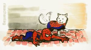 Spiderdog sideways by Risachantag