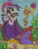 Pied Piper as a merman by BlurryRabbitz