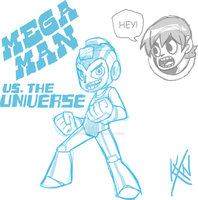 Mega Man VS. The Universe by kevinxnelms