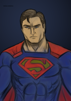 CW Inspired Superman by Michael-McDonnell