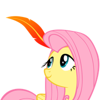 Fluttershy Feather by Adiwan
