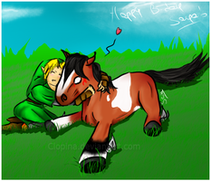 :bday pic: Huggle Time by Clopina
