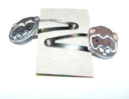ferret Snap Metal Hair Clips by Eliea