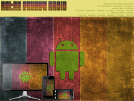 Retro Grunge Droid Wallpaper by melissapugs