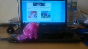 02. Pinkie Invasion. Taking over the laptop. by Askre5