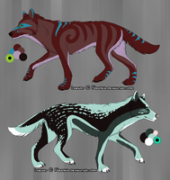 Breedables - Swirl and Fauna (CLOSED) by SwarThylacine-Adopts