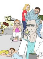 Draw the squad meme: Rick and Morty by ProfessorMythology