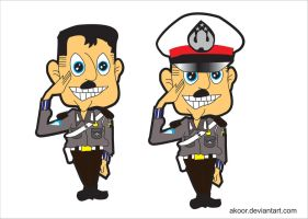 young and funny police cartoon by akoor