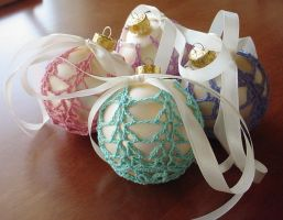 Ostara Covered Ball Ornaments by ArielManx