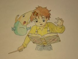 Ni No Kuni: Oliver and Drippy by Silentsnowman