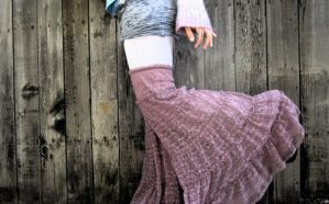Gypsy Flared Leg Warmers Upcycled Clothing by DewdropzGarden
