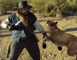 John Marston vs the Cougar by oberious