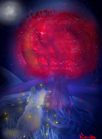 Red tree? by Nariette