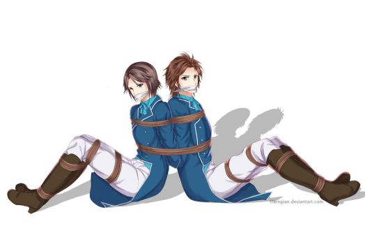 Sima Shi and Sima Zhao Tied Back To Back by Aregian