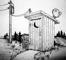 REDNECK OUTHOUSE by uncledave