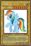 Rainbow Dash Yu-Gi-Oh Card by PokeMarioFan14