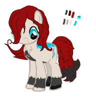 [Art Trade] Alexia Mitsashi, ponyfied (WIP) by nullpony-exception