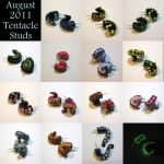August 2011 Tentacle Studs by okapirose