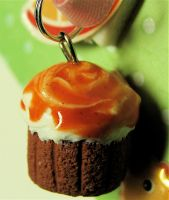 caramel cupcake close up by MotherMayIjewelry