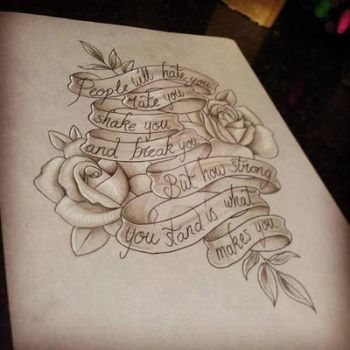 Rose n Writing Pretty Grotesque by heartsandanchors
