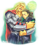 + Thor and Loki + by BoGilliam