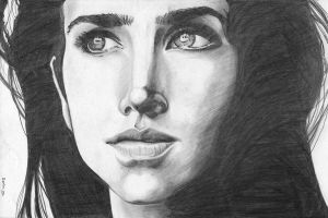 Jennifer Connelly - Sketch by tomo-chi
