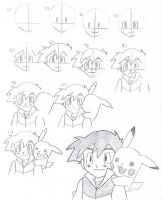 How to Draw Ash without Hat 1 by EternASH
