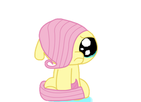 crying fluttershy by Keanno