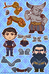 Dragon Age Warrior Stickers by regeener