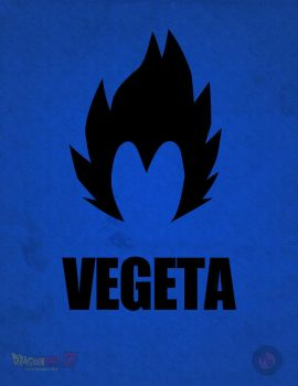 Vegeta Minimalist Poster by A-B-Original