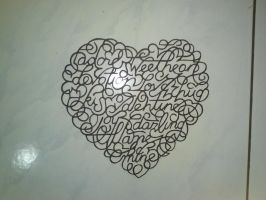 Love Calligraphy by Papyrokinesis