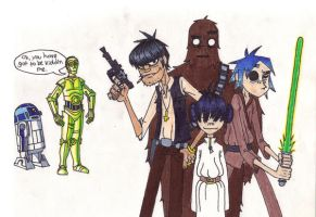 Gorillaz Star Wars 2 by Kelden17