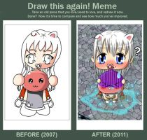 Before and after meme by Aiseiri