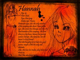 Hannah character sheet by 777zibb