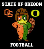 The State Of Oregon Football by StickstoMagnet