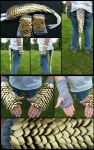 Medium Tail And Gauntlet Gold Set by WuffJaye