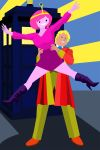 Princess Bubblegum and the Sixth Doctor by richardnixon1968