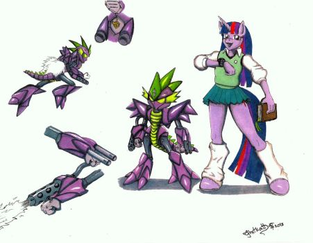 Medabot  and MLP crossover Twilight Sparkle by ghstkatt