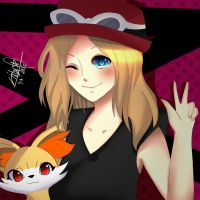 Serena and Fennekin [Pokemon] by LinkBae