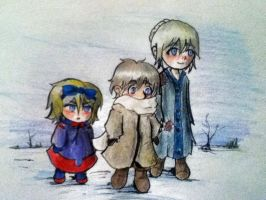 Russia and sisters by TinkChick14