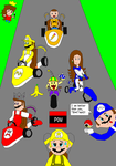 Deviant and YouTube Kart by SuperRoyalMario