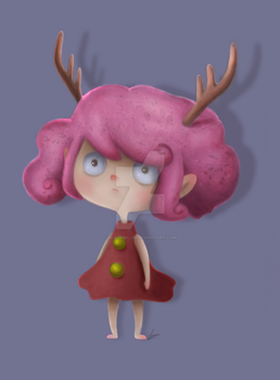 Reindeer Girl by Blackbell93