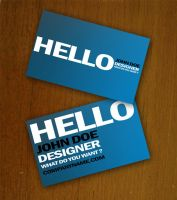 Blue Business Card Template by Freshbusinesscards