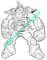 KRANG inks by pop-monkey