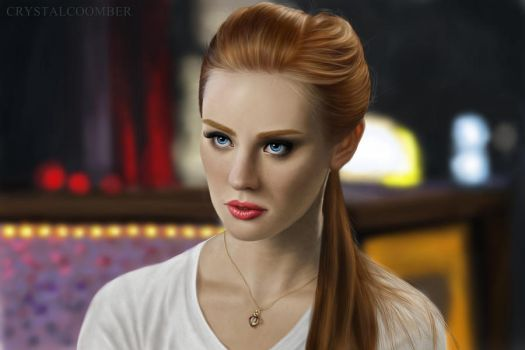 True Blood: Jessica - digital drawing by Crystalcoomber