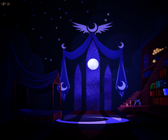 Princess Luna room by Dalagar